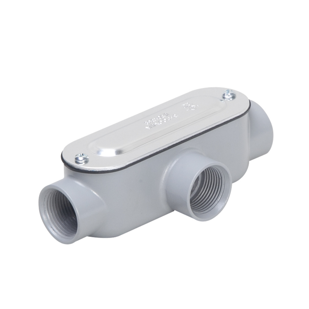 """TayMac Corp RLT075 3/4"""" Die-Cast Aluminum Type T Rigid/IMC Conduit Body and Cover with Gasket"""