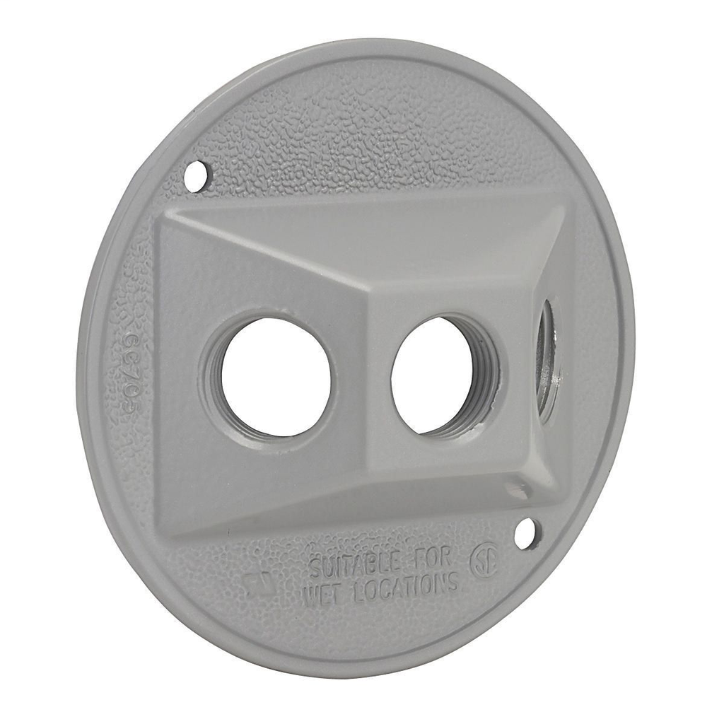 Bell 5197-0 4-1/2 Inch Die-Cast Zinc Gray Round Weatherproof Outlet Cover with Gasket
