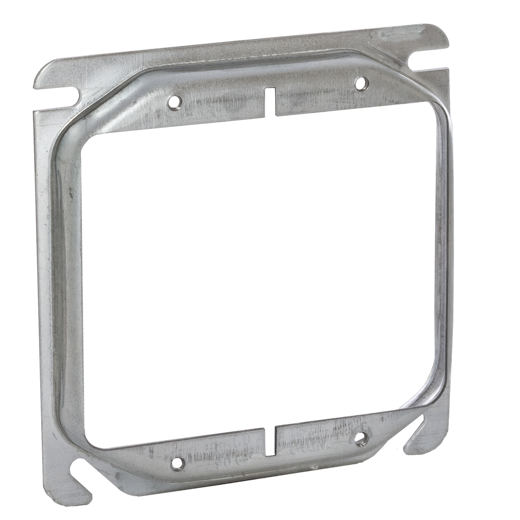 Raco 778 1/2 Inch Raised 6 In Steel 2-Device Square Outlet Box Mud Ring