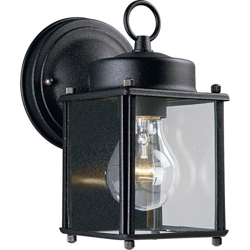 Mayer-Flat Glass Lantern One-Light Wall Lantern-1
