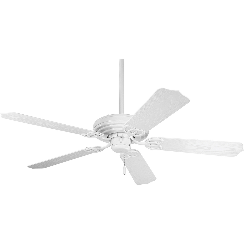 "PROGRESS LIGHTING AirPro Collection 52"" Five-Blade Indoor/Outdoor Ceiling Fan"