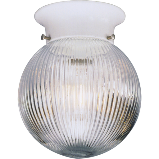 "One-Light Glass Globe 6-3/8"" Close-to-Ceiling"