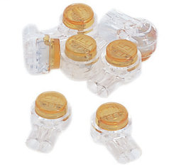 IDC 2-Wire UY Yellow Butt Splice Jellybean