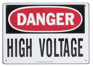 IDE 44-863 SIGN-DANGER HI VLT ADH MT