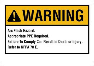 IDE 44-892BK FLASH WARNING LABEL
