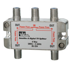 IDEAL,85-334,4-WAY 2 GHZ SPLITTER
