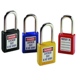 Safety Lockout Padlocks with Key Retention