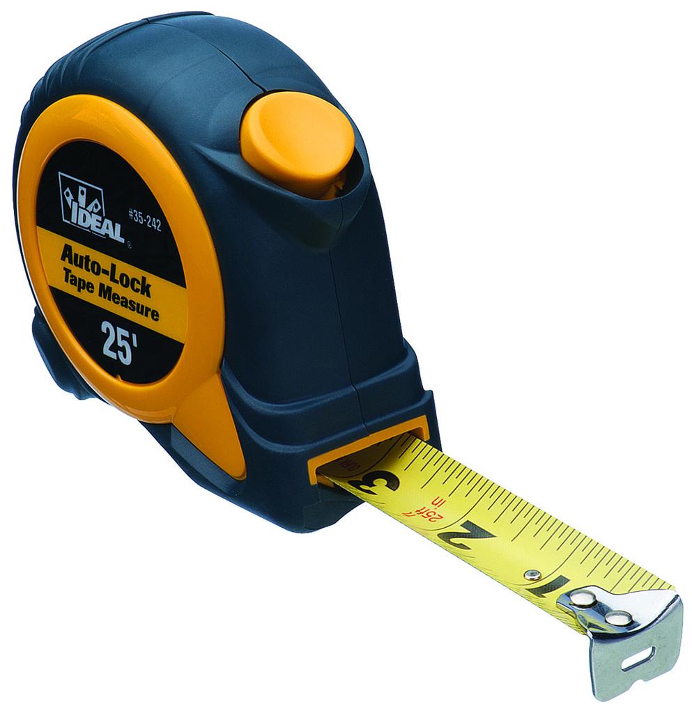 IDEAL 25' Auto-Lock Tape Measure