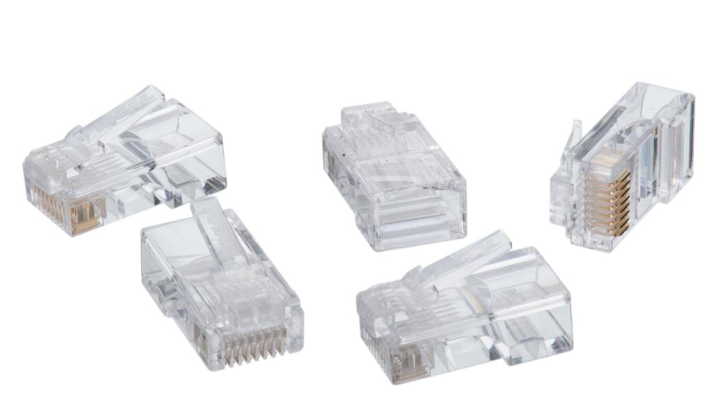 IDEAL CAT5e RJ-45 8P8C Modular Plugs -100 pk
