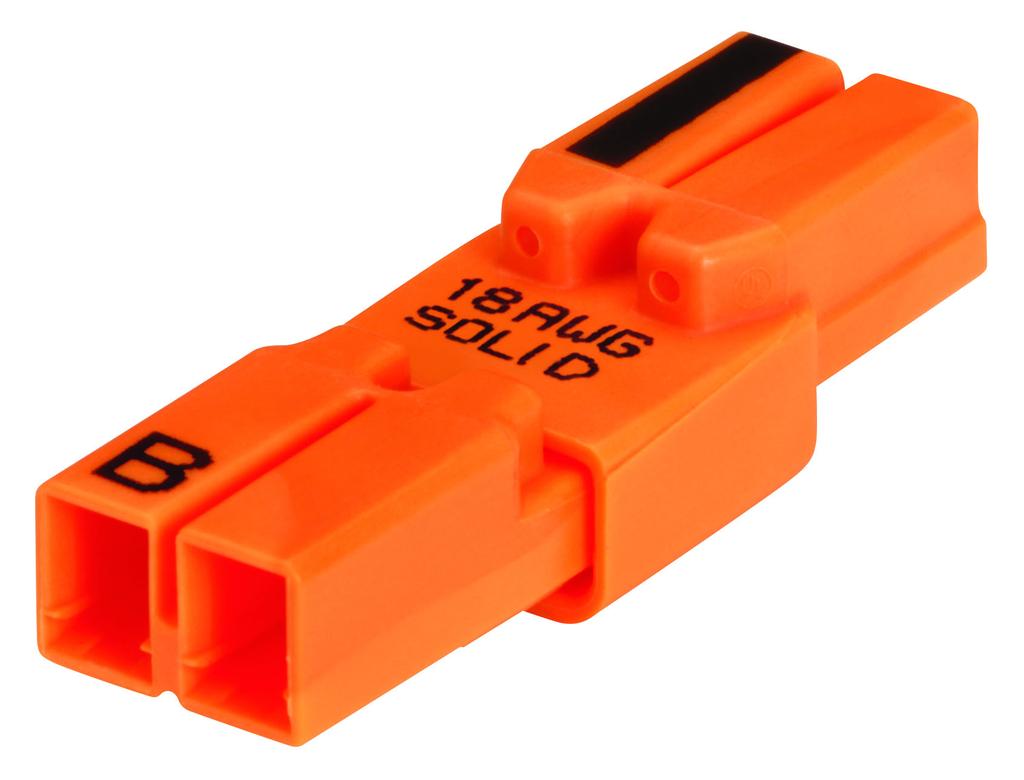 Ideal Industries 30-682 3 Amp 600 Volt 18 AWG Line/Ballast Orange 2-Wire Luminaire Disconnect