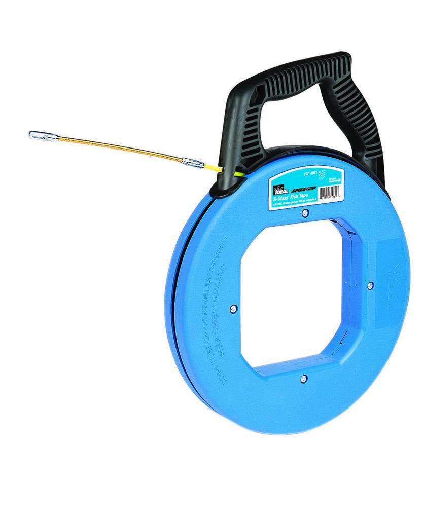 Mayer-100' S-Class® Fiberglass Fish Tape w/Leader & Tuff-Grip™ Pro Case-1
