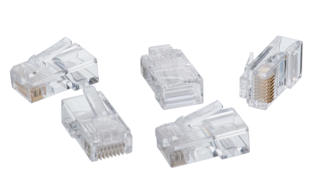 Ideal Industries 86-396 RJ45 8-Position 8-Contact Non-Keyed Round Solid Plug