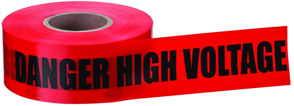 """Mayer-Barricade Tape, """"Danger"""", Red, 3"""" x 1,000'-1"""