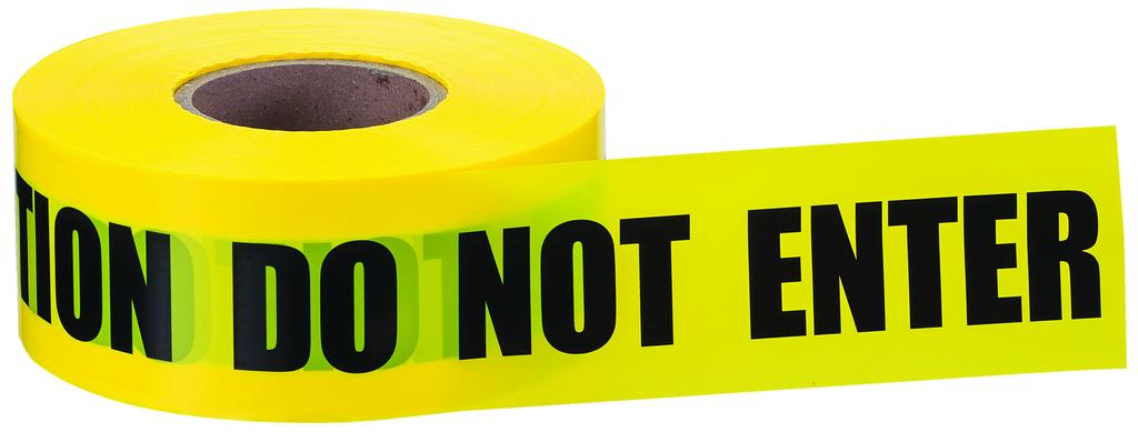 Ideal Industries 42-002 3 Inch x 1000 Foot Yellow Polyethylene Caution Do Not Enter Legend Barricade Tape
