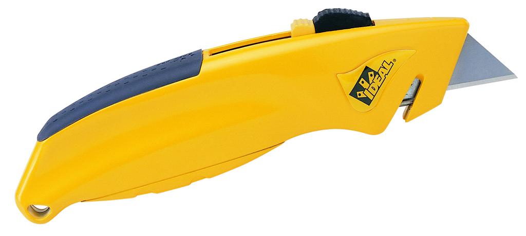 Ideal Industries 35-300 Non-Slip Soft Comfort Grip Handle Retractable Quick Change Utility Knife
