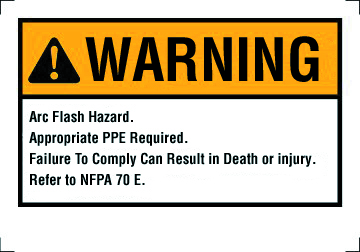 """Ideal 44-892 5 x 3-1/2"""" Self Sticking Polyester Warning NEC Arc Flash Legend Flash Protection Label and Sign"""