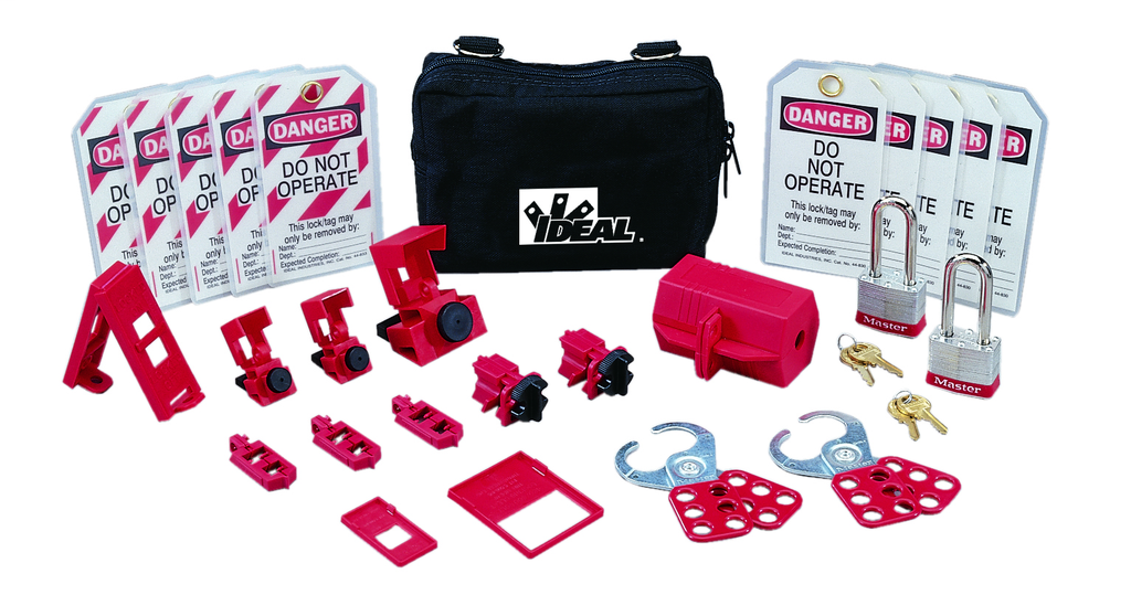 Ideal Industries 44-971 25-Piece Standard Lockout/Tagout Kit