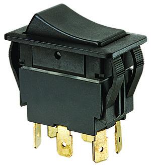 Ideal Industries 774040BK On-Off-On DPDT Rocker Switch