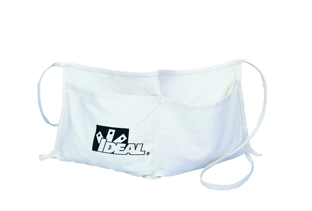 Ideal Industries 35-474 8 x 15 Inch 2-Pocket Natural Duck Supply Apron