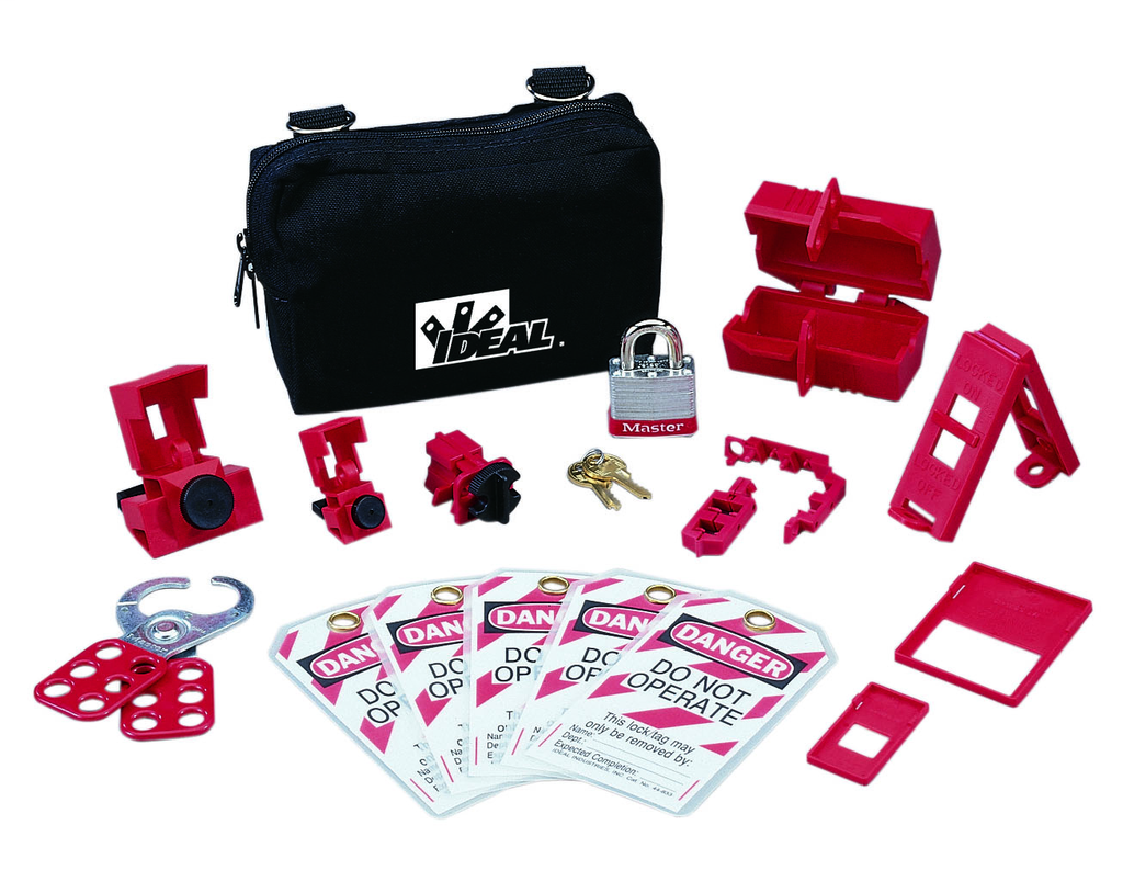 Ideal Industries 44-970 Nylon Zipper Pouch Basic Lockout/Tagout Kit