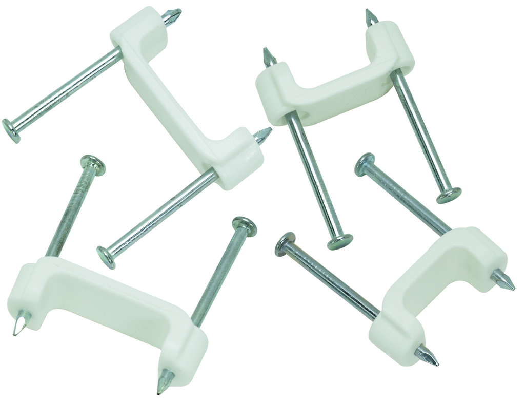 Ideal Industries BPS2-50 1/2 Inch White Plastic Standard Insulated 50/Bag Staple