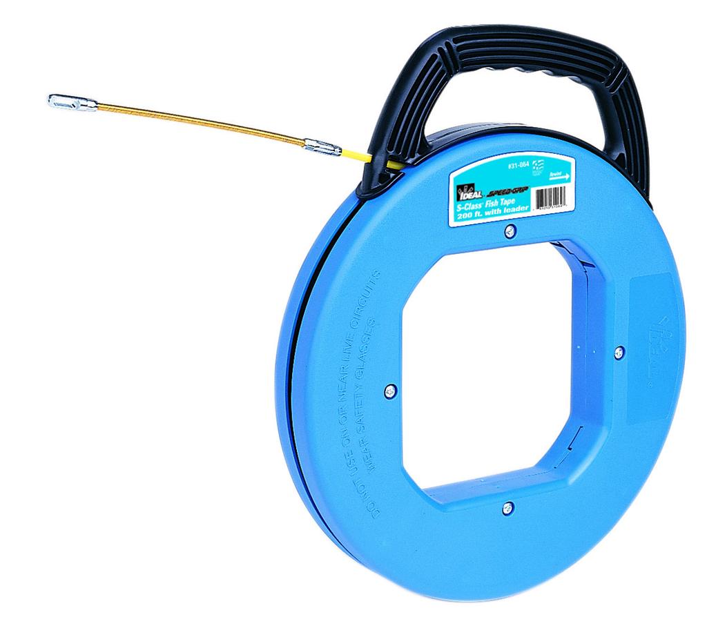 Mayer-200' S-Class® Fiberglass Fish Tape w/Leader & Tuff-Grip™ Pro Case-1