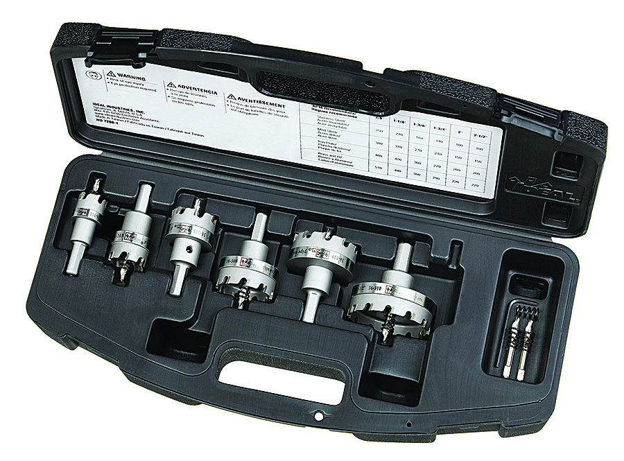 Ideal Industries 36-314 8-Piece Carbide Tipped Hole Cutter Electrician Kit