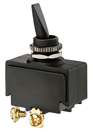 Ideal 774019 10/20 Amp 125/277 VAC SPST On-Off Screw Terminal Plastic Double Insulated Toggle Switch