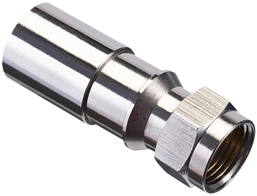 Ideal Industries 92-650 Brass F-Type Compression Cable Connector