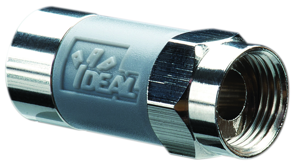 Ideal Industries 85-068 Brass F-Type Tool Less Compression Cable Connector