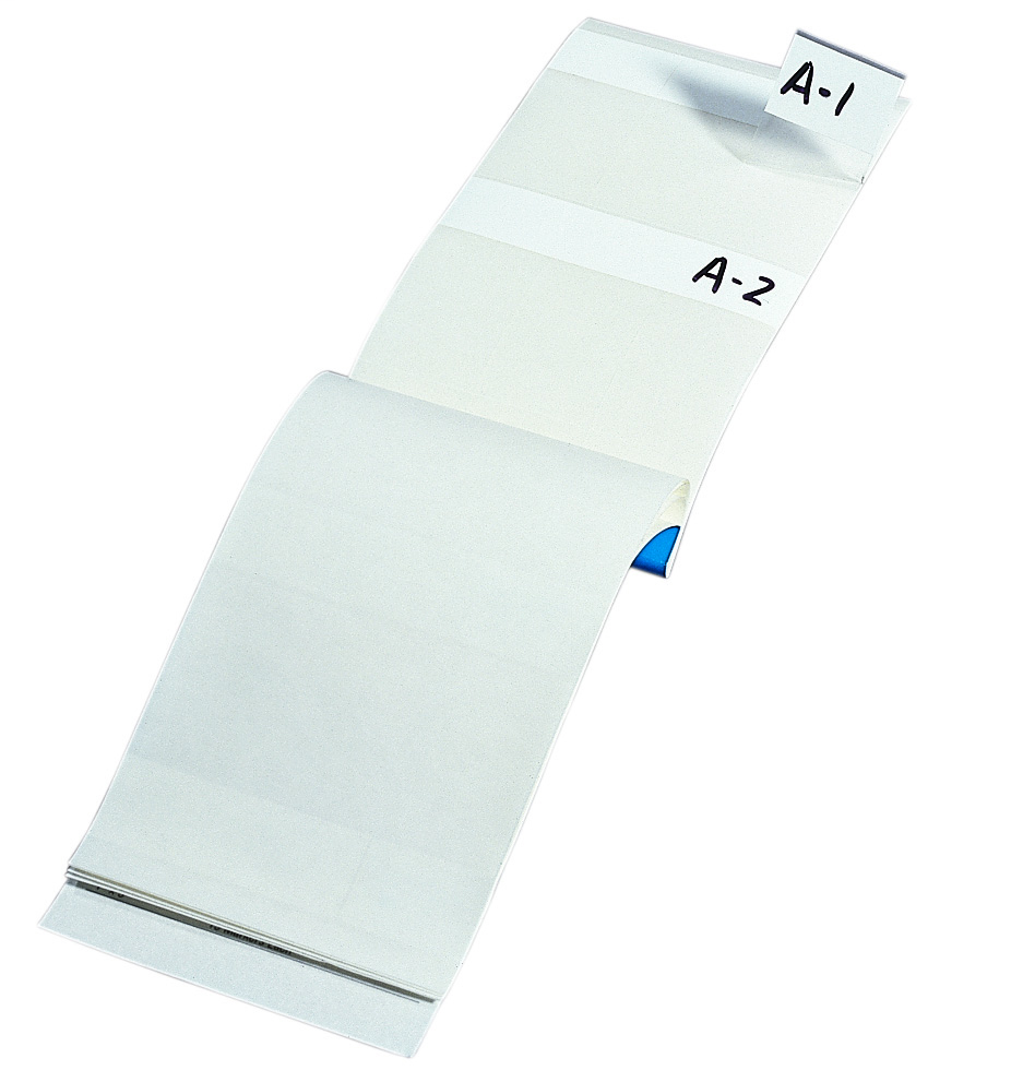 """Ideal 44-151 1 x 2-1/2"""" Plastic Impregnated Cloth Blank Write-On Legend Wire Marker Booklet"""