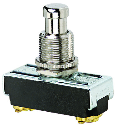 Ideal Industries 774085 10/15 Amp 125/250 VAC SPST NO Maintained Screw Terminal Nickel Plated Push Button Switch