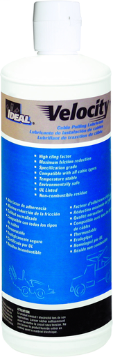 Velocity™ Wire Pulling Lubricant, 1-qt. Squeeze Bottle