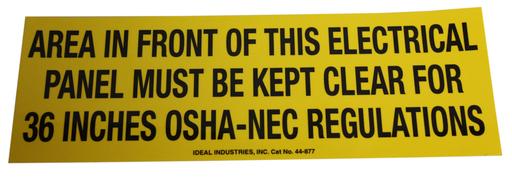 Safety Sign, OSHA Regulation, Adhesive