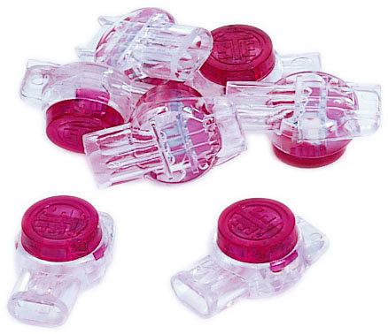 Mayer-IDC 3-Wire UR Red Butt Splice Jellybean Connectors -100 pk-1