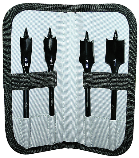 Power-Spade™ Spade Bit Kit w/Pouch, 4-Piece