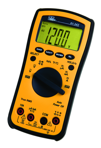 Test-Pro Digital Multimeter w/TRMS, Temp, Cap, Hz, Backlight