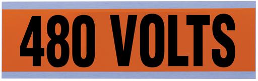 """Voltage & Conduit Marker Card, """"480V"""", Large"""