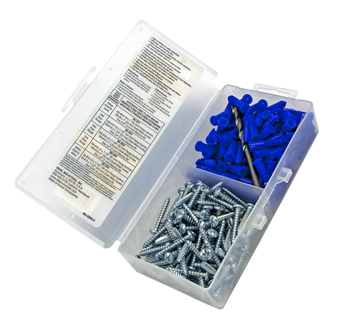 "Flange Anchor Kit, Blue, 10-12, #10 x 1-1/4"" Screws"