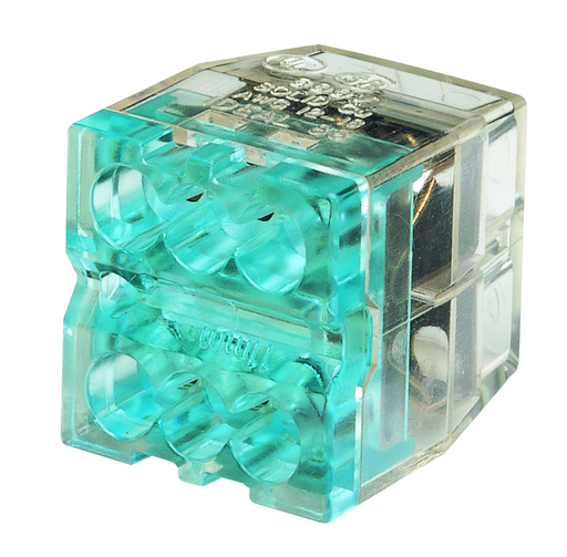 In-Sure® Push-In Wire Connector, Model 88 6-Port Blue, Jar of 100