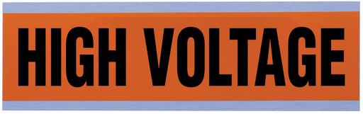 "Voltage & Conduit Marker Card, ""High Voltage"", Large"