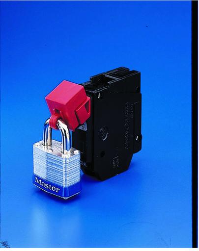 Universal 120/277V Single Pole Breaker Lockout, 50 Pieces