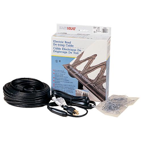 ADKS Fixed Resistance, Pre-Terminated Roof and Gutter De-Icing Cable, 80 FT Length, 400 Watts, CTN QTY 5, CTN WT 16