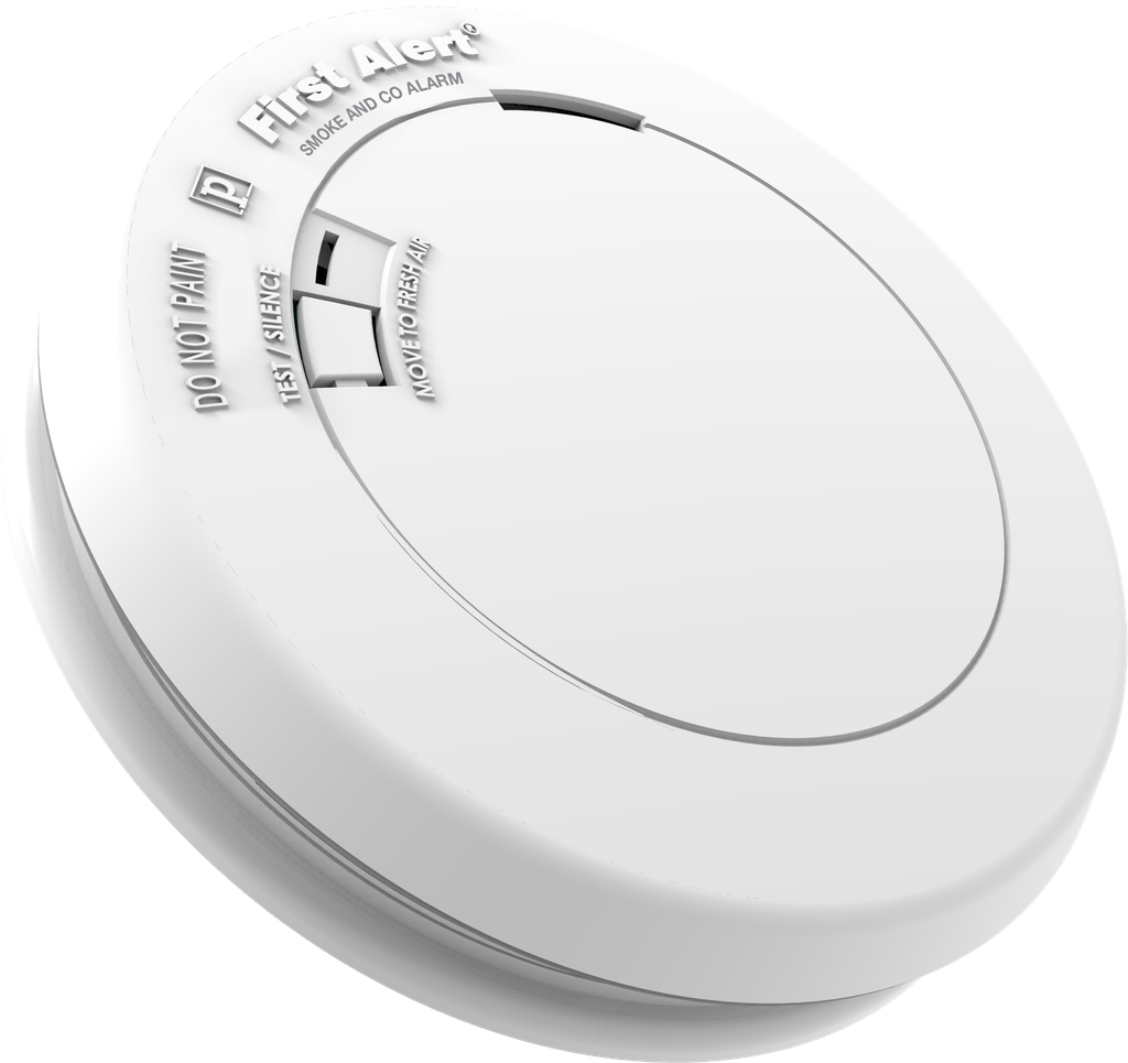 BRK SMOKE DETECTORS Low profile design battery powered photoelectric smoke and CO combo alarm with silence feature. Tamper resistant - Locks alarm to mounting bracket to prevent removal of battery and/or alarm.