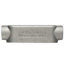 Eaton Crouse-Hinds series Condulet Mark 9 conduit outlet body, Copper-free aluminum, C shape, 3-1/2""