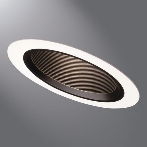 Halo 498w 6 Inch White Sloped Ceiling Baffle Trim Recessed Down Light 7 8 Od 90