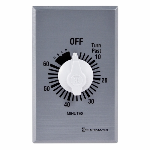 Intermatic FF60MH10 60 Minute 125 to 277 VAC 60 Hz SPST Countdown Timer with 60 Minute Hold and Knob