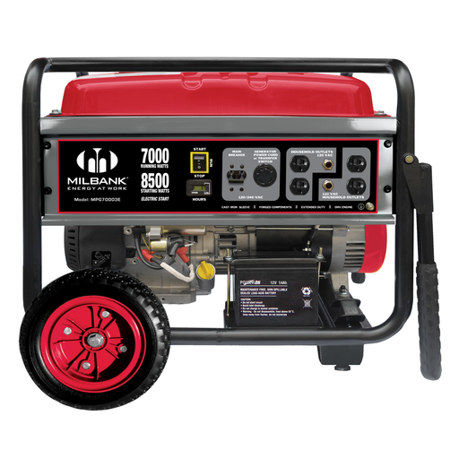 MIB MPG70003E 7000 WATT PORTABLE ELECTRIC START