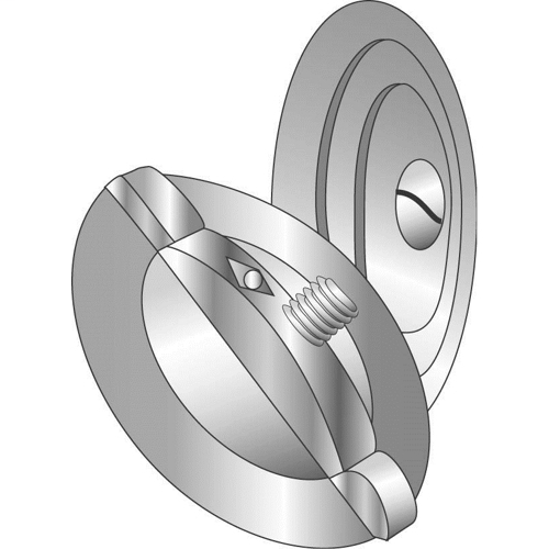 """CULLY 90050 1/2"""" 3pc Knock-Out Seal, Zinc-Plated"""