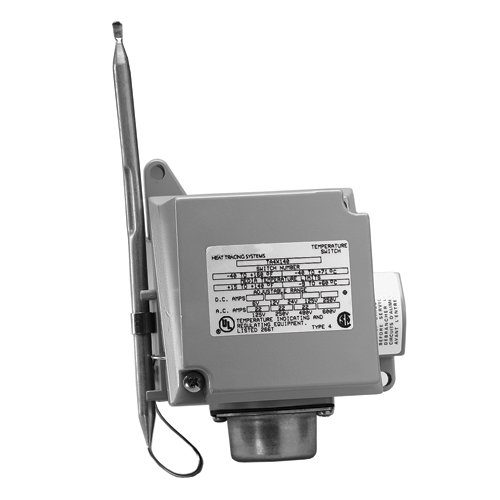 Commercial pipe tracing controls, Nema 4X, 22 amp, 15 to 140 DEG F, -9  to 60  DEG C, ambient thermostat